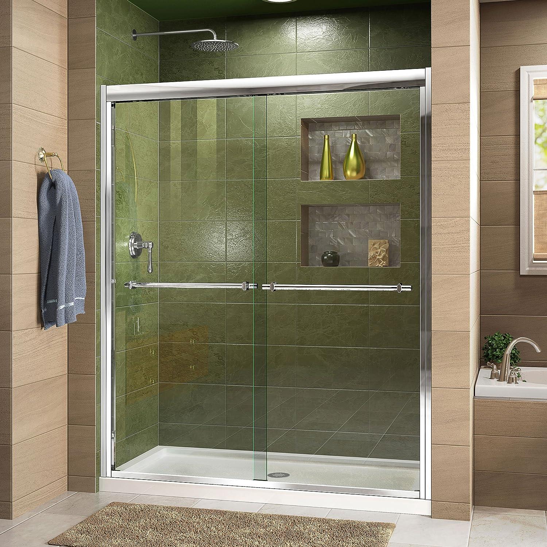 Dreamline Duet 44 48 In W X 72 In H Bypass Sliding Shower Door In