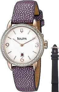 Bulova Women's 98R196 Analog Display Quartz Purple Watch