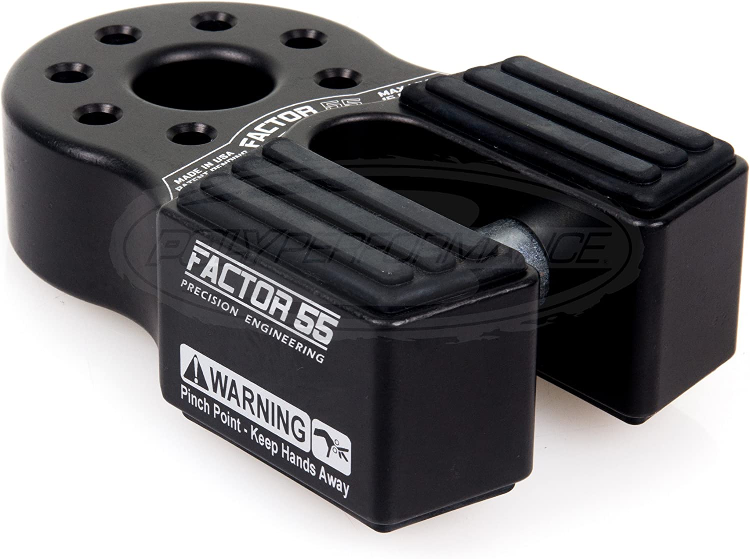 ATV and UTV Red Winch Shackle Mount Factor 55 00070-01 Flatlink XTV