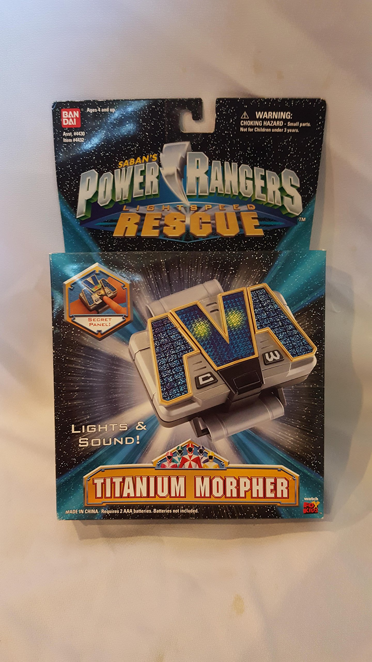 Bandai, Power Rangers Lightspeed Rescuers, Titanium Morpher Wristband