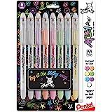 Pentel Milky Pop Pastel Gel Pen, 0.8mm Medium Line, Assorted Colors, Pack of 8 (K98BP8M)