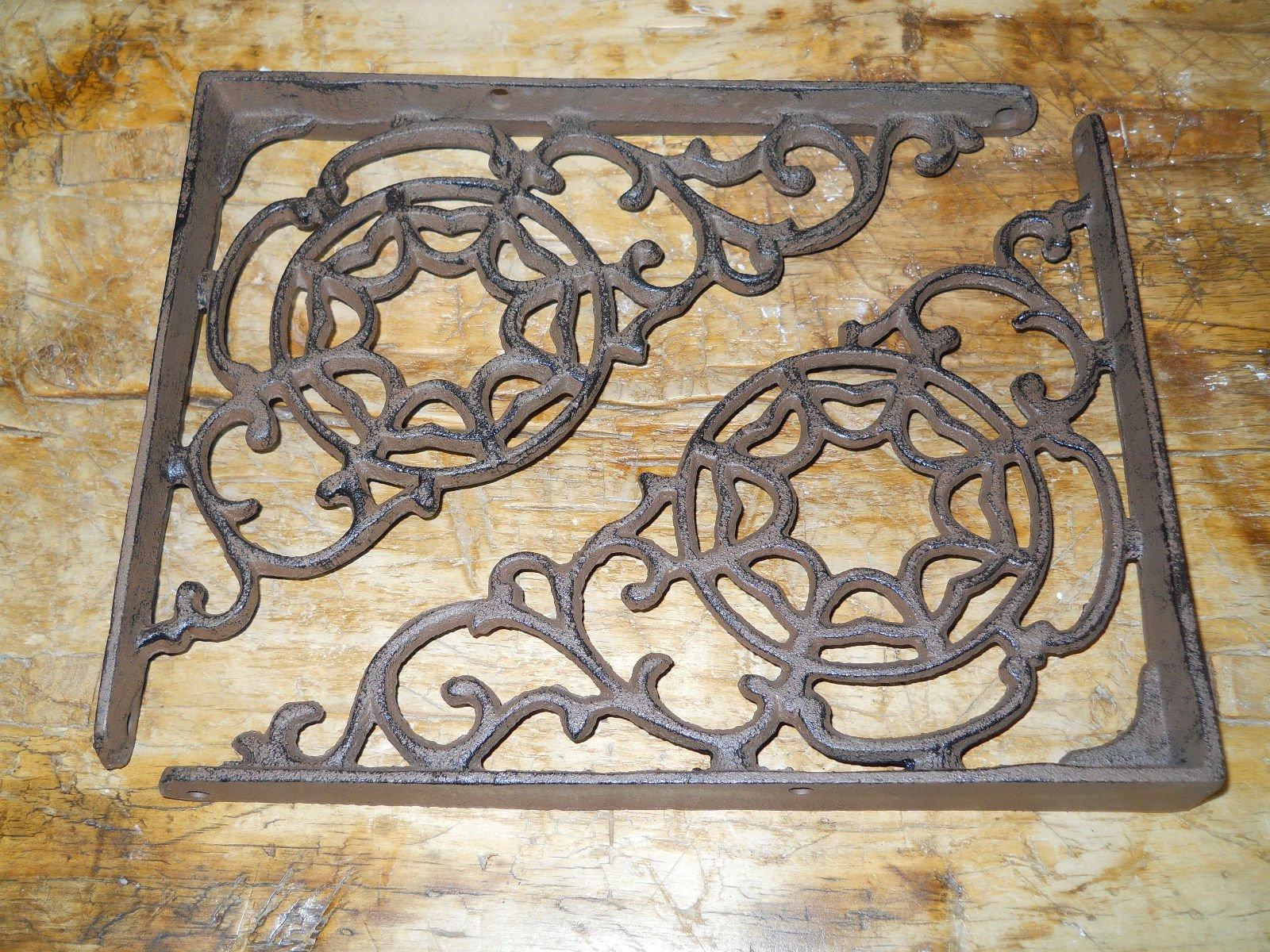 6 Cast Iron Antique Style LARGE WEB Brackets, Garden Braces Shelf Bracket , Garden Braces Shelf Bracket , Garden Braces Shelf Bracket RUSTIC , Wall Brackets Shelf Support for Storage