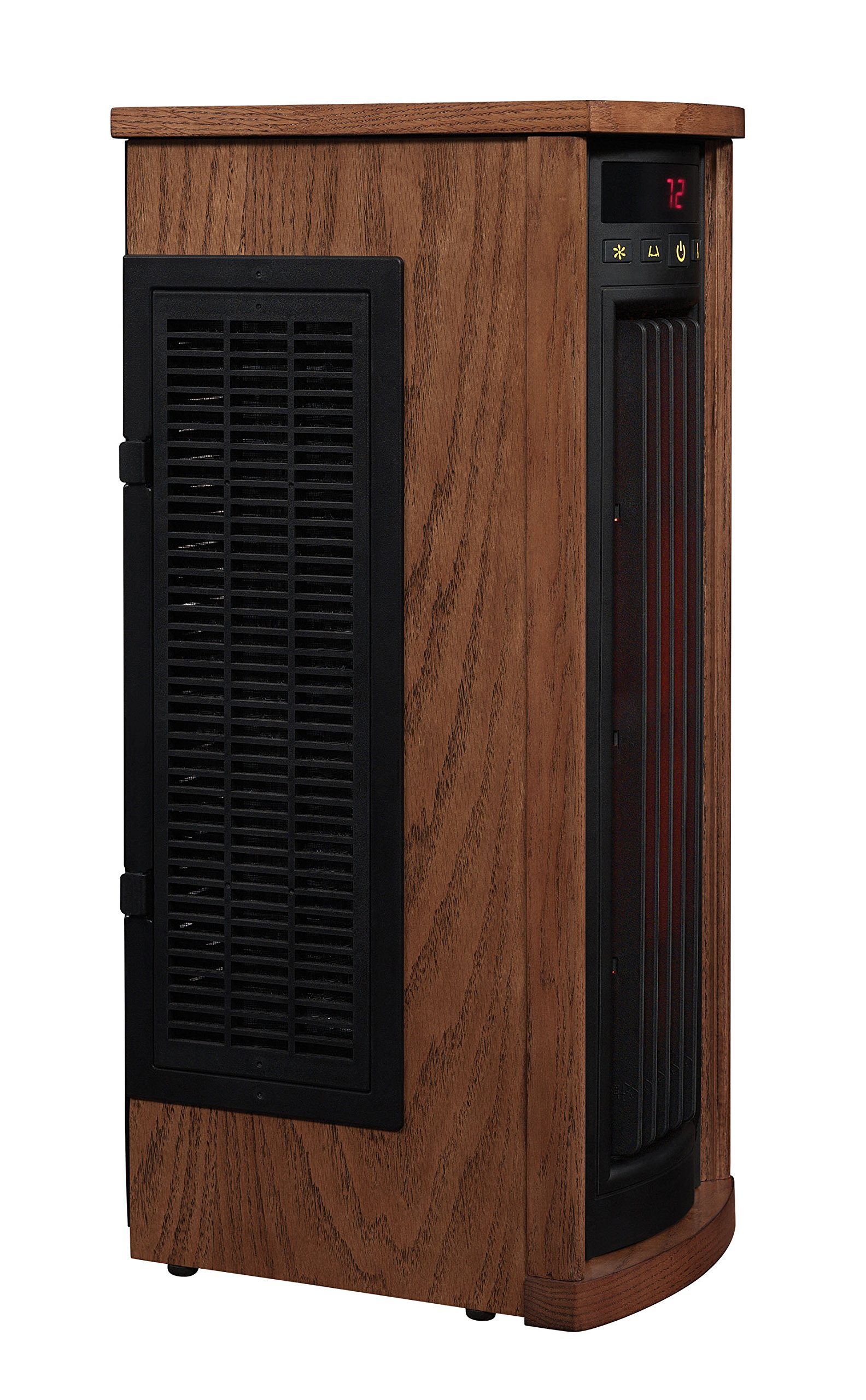 Duraflame 5HM8000-O142 Portable Electric Infrared Quartz Oscillating Tower Heater, Oak by Duraflame (Image #2)