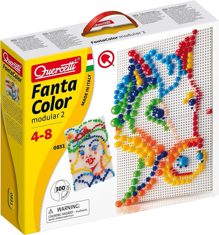 Quercetti- Pixel 300 Pinchos, Multicolor (8515)