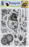 "Hot Off The Press 1193 Acrylic Stamps, 6"" x 8"", Steampunk, Clear"
