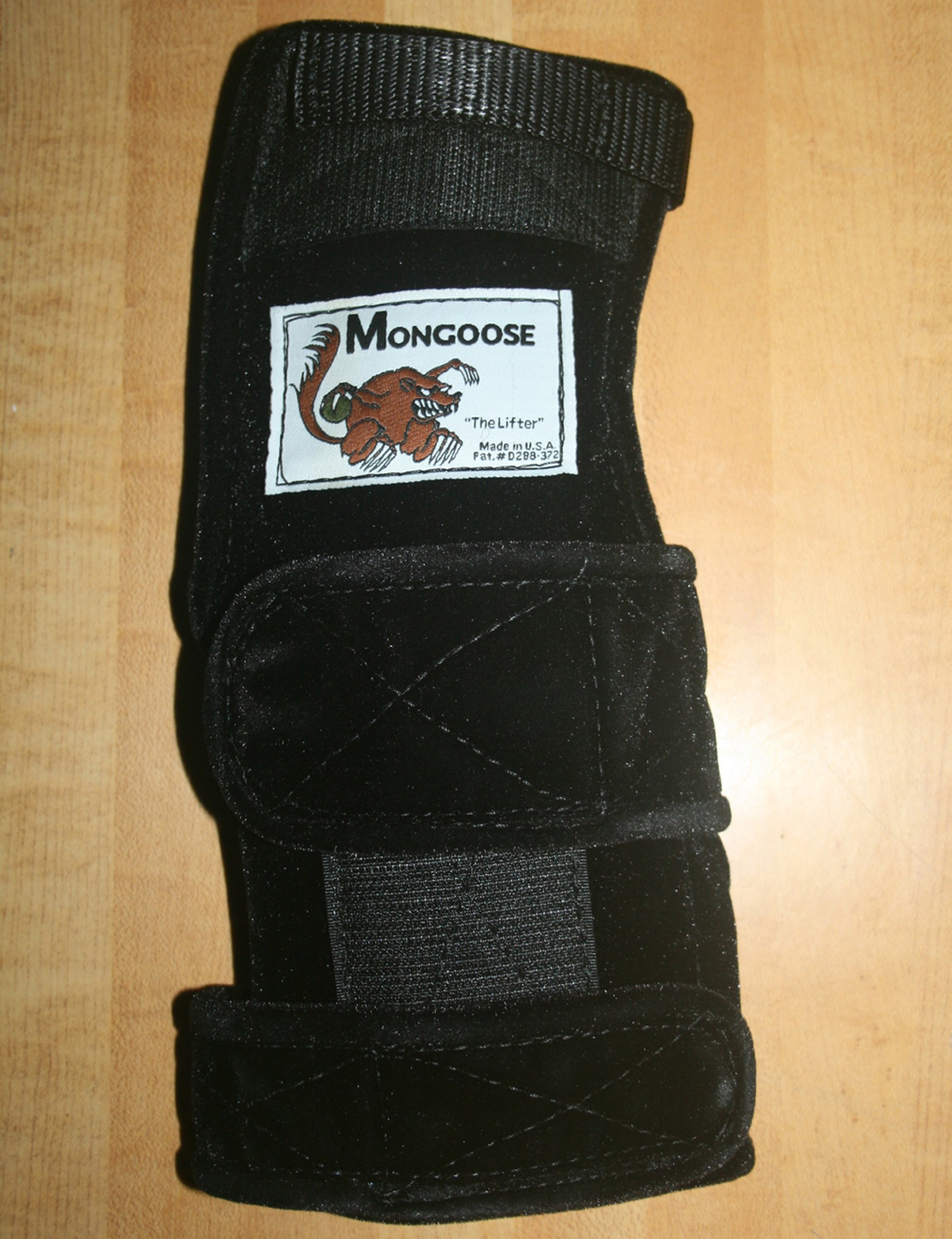 Mongoose ''Lifter Bowling Wrist Support Left Hand, Large, Black by Mongoose
