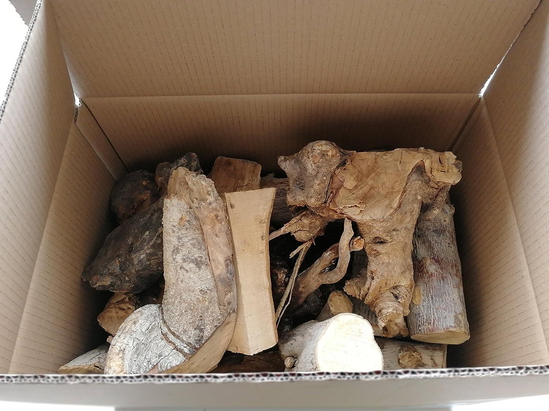 Log-Delivery 10 kg para barbacoa de madera de olivo ahumado Perfecto para fumar cerdo, aves de corral, pescado, carne de vacuno, cordero, ...