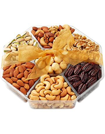 Holiday Nuts Gift Basket - Gourmet Food Gifts Prime Delivery - Christmas, Mothers & Fathers