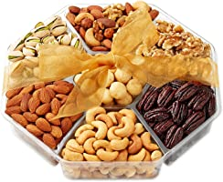 Christmas Holiday Nuts Gift Basket - Gourmet Food Gifts Prime Delivery - Mothers & Father's Day Fruit Nut Gift Box,...