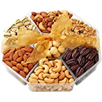 Holiday Nuts Gift Basket - Gourmet Food Gifts Prime Delivery - Christmas, Mothers & Fathers Day Fruit Nut Gift Box…
