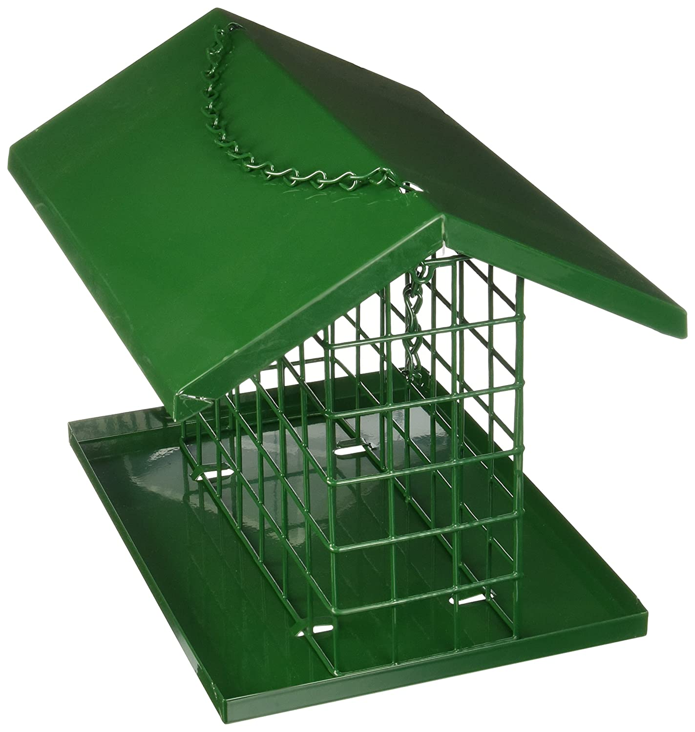 C & S Products Easy Fill Deluxe Snak Suet Feeder with Roof and Platform