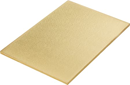 Sottotorta Rettangolare Accoppiato Oro E Argento Decora