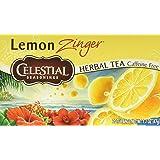 Celestial Seasonings Lemon Zinger Herbal Tea, 20 Count (Pack of 6)