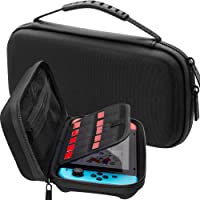 ButterFox Hard Case for Nintendo Switc , Games and Accessories (Slim version) - Black