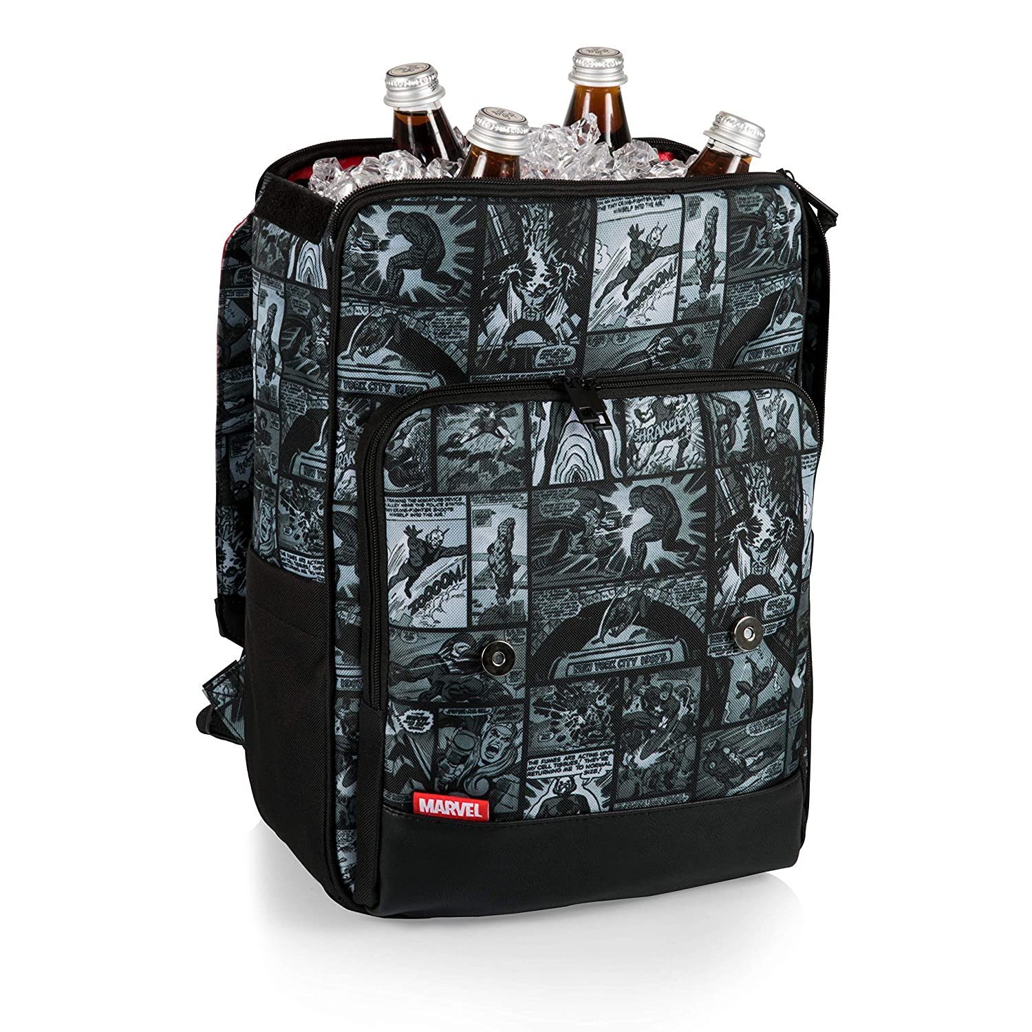 Marvel Comic Strips Insulated Backpack Cooler Tote Picnic Time Sports-non license 636-00-422-081-15