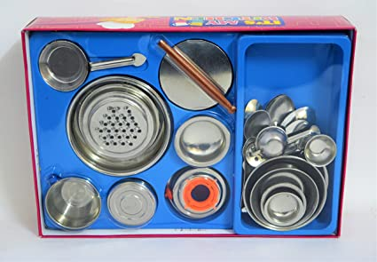 Buy Sunnytoyz Realistic Stainless Steel Small Toy Kitchen Set For