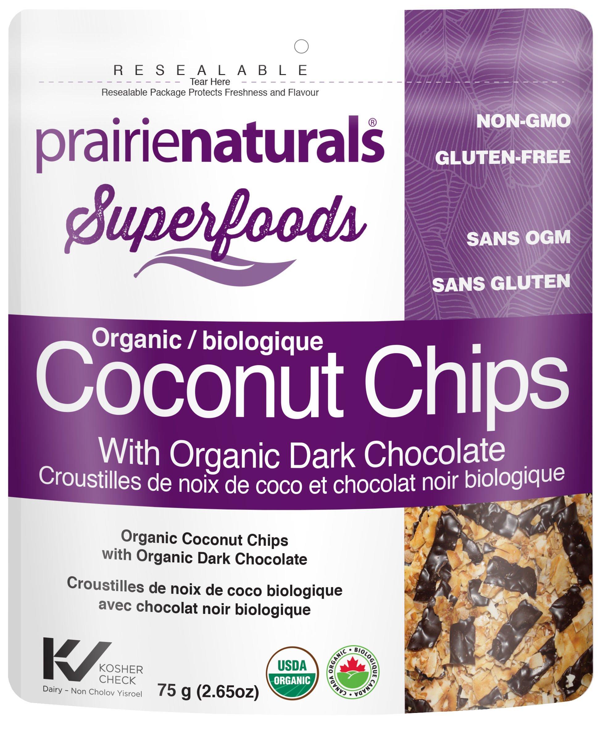 Prairie Naturals Coconut Chips with Organic Dark Chocolate, 60g