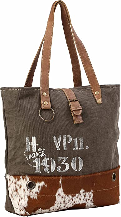 Myra Military Badge Canvas Tote Bag Up-cycled Purse NWT
