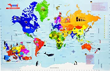Buy Traveller Kids Interactive World Map Kit Online At Low Prices - World maps online