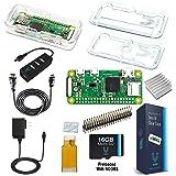 Raspberry Pi Zero W Complete Starter Kit--Premium Clear Case Edition--Includes Pi Zero W and 7 Essential Accessories