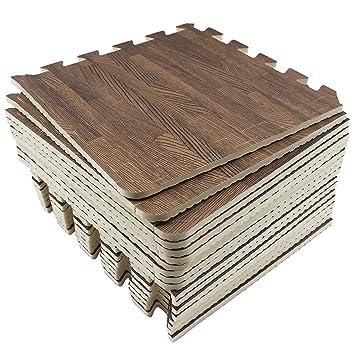 9//18-teiliges Set UMI Essentials 30cm x 30cm ineinandergreifende Bodenmatten aus Schaumstoff