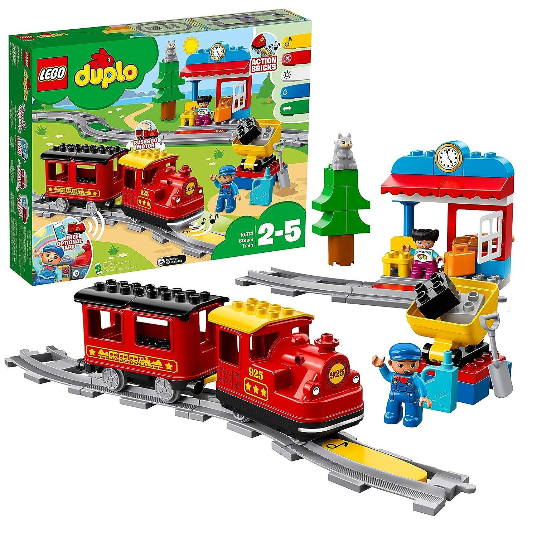 LEGO DUPLO Trains Juego de Construcción Tren de vapor, multicolor (10874)