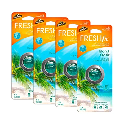 Armor All 18551-4PK Car Air Freshener and Purifier - Freshfx Island Oasis Vent Clip - Odor Eliminator for Cars & Truck, 4 Pack: Automotive
