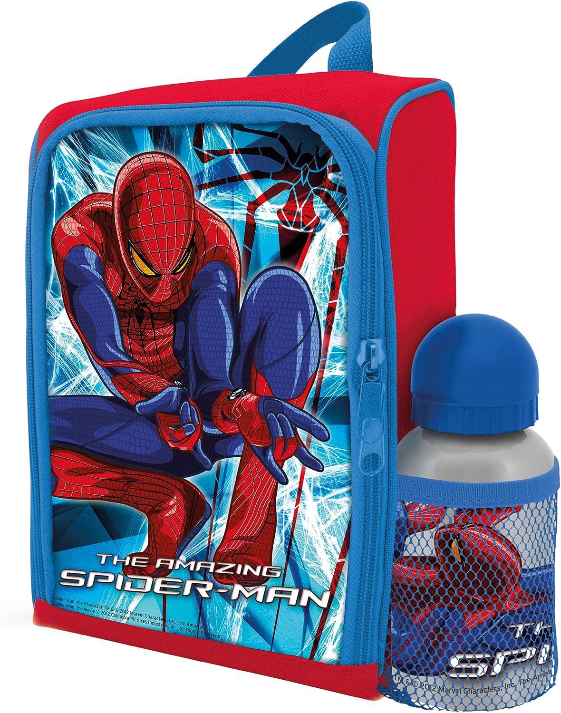 BBS GO ON - Mochila Infantil para Comida + cantimplora, Estampado Spiderman