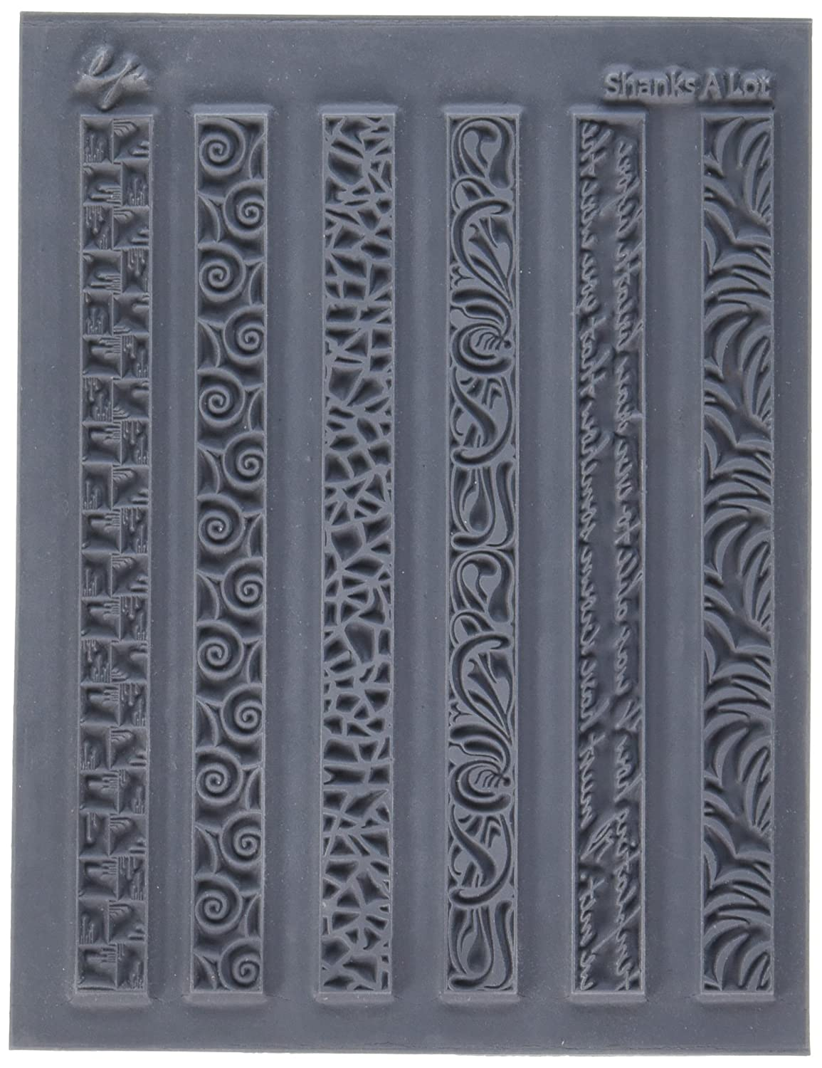 Great Create Lisa Pavelka Individual Texture Stamp, 4.25 by 5.5-Inch, Shanks a Lot, 1 Per Package LP527-395