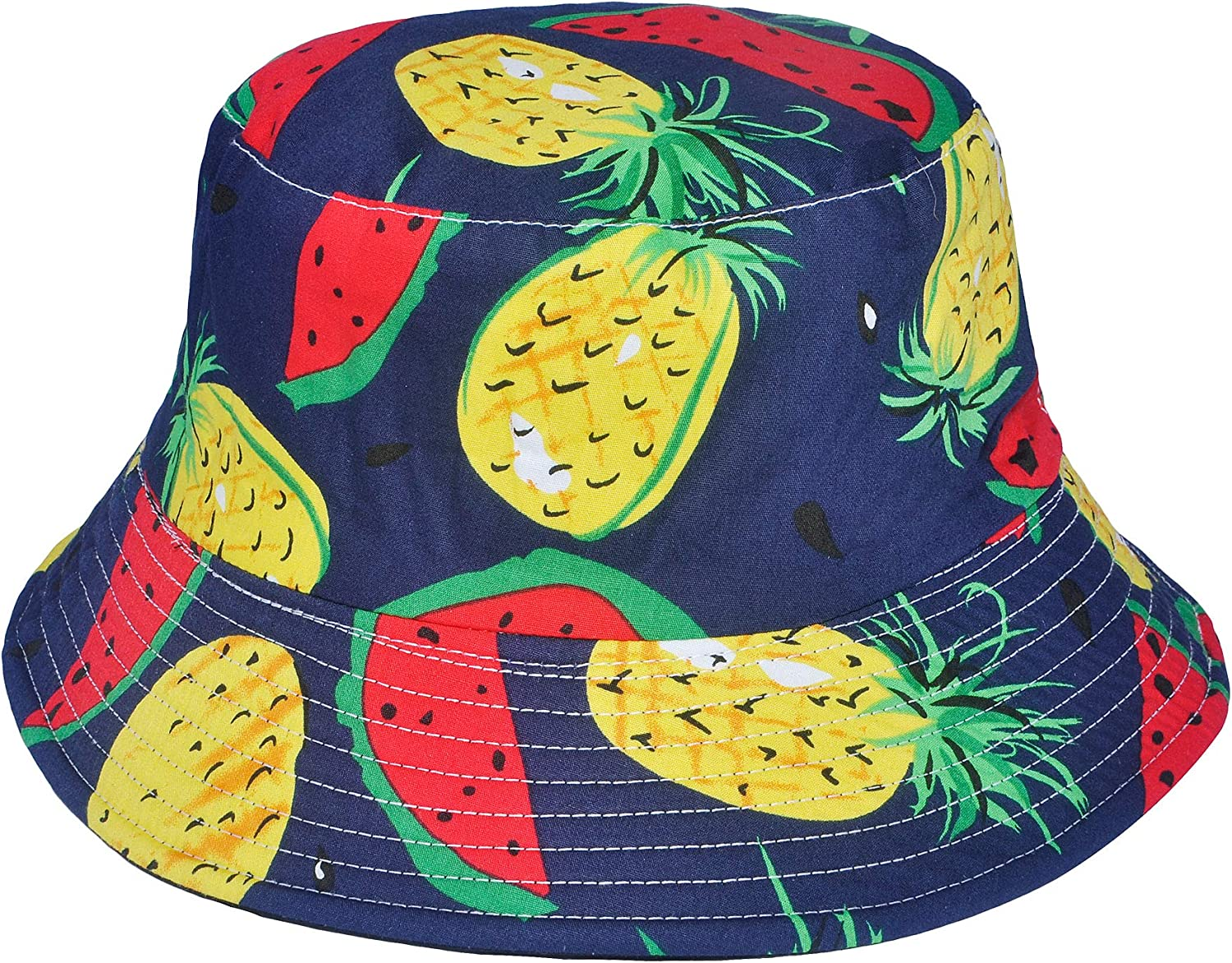 ZLYC Unisex Cute Print Bucket Hat Summer Fisherman Cap