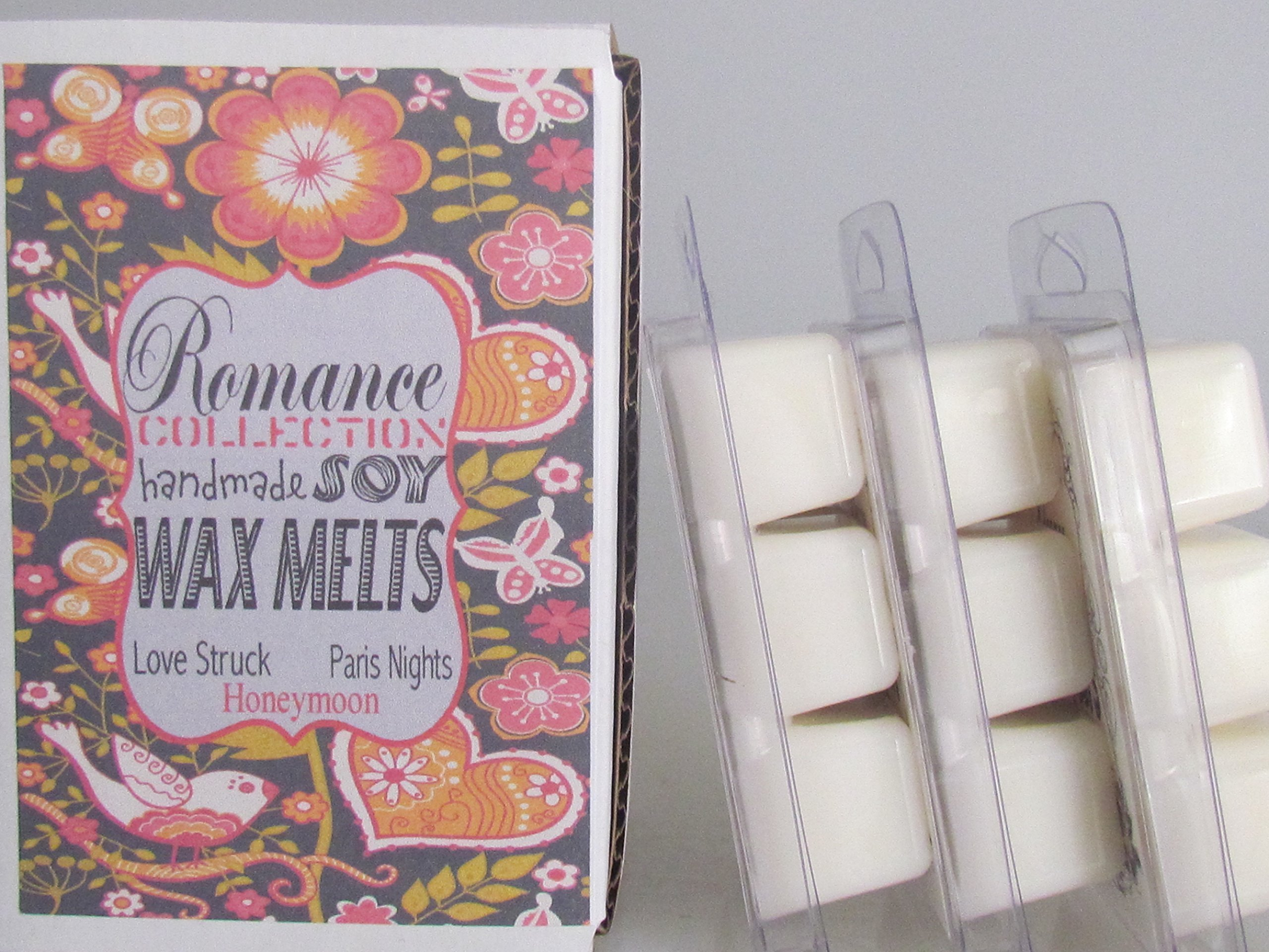 Scented Soy Candle Tarts Wax Melts For Warmers 3 Variety Pack Love Struck, Honeymoon, Paris Nights