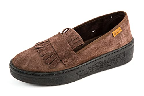 Natural World - Mocasines de Piel para mujer Marrón marrón 37, color Marrón, talla