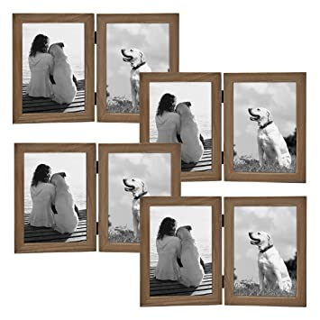 Amazoncom Designovation Gallery Hinged Wood Picture Frames 2