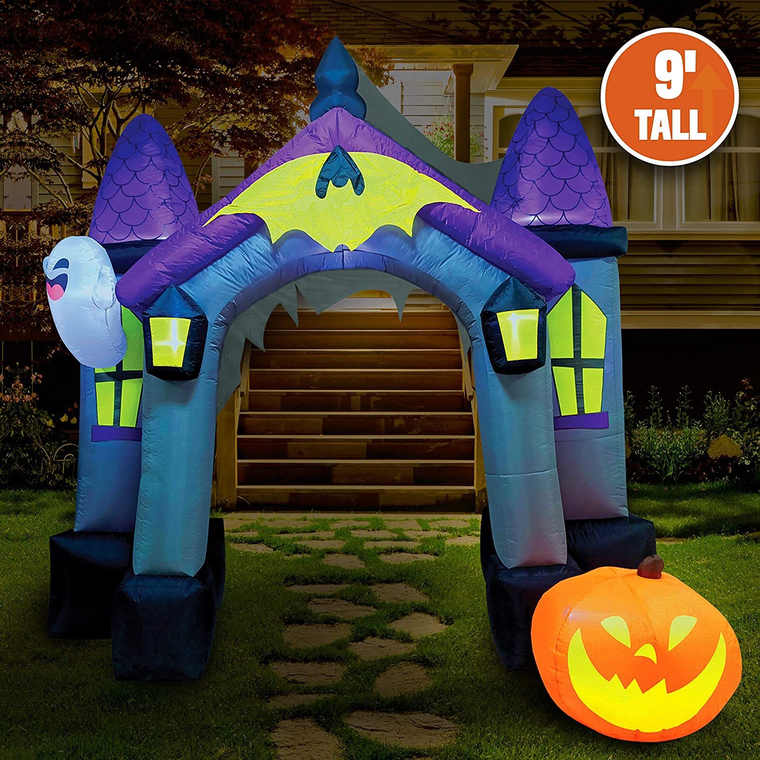 Lawn D/écor Decorations Garden Yard Joiedomi 11 FT Tall with Gift Boxes Archway with Build-in LEDs Blow Up Inflatables for Christmas Party Indoor Outdoor