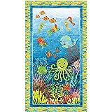 Amazon com: Northcott Quilt Pattern 3D Underseas Adventures Aquarium