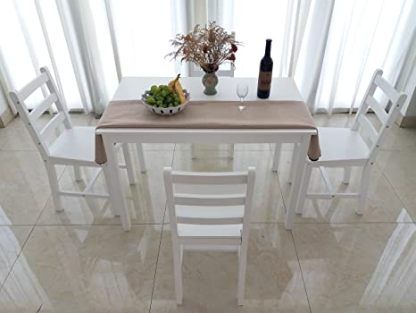 Tavolo E Sedie Stile Contemporaneo.Panana Set Di Tavolo Da Pranzo E 4 Sedie In Stile Contemporaneo White