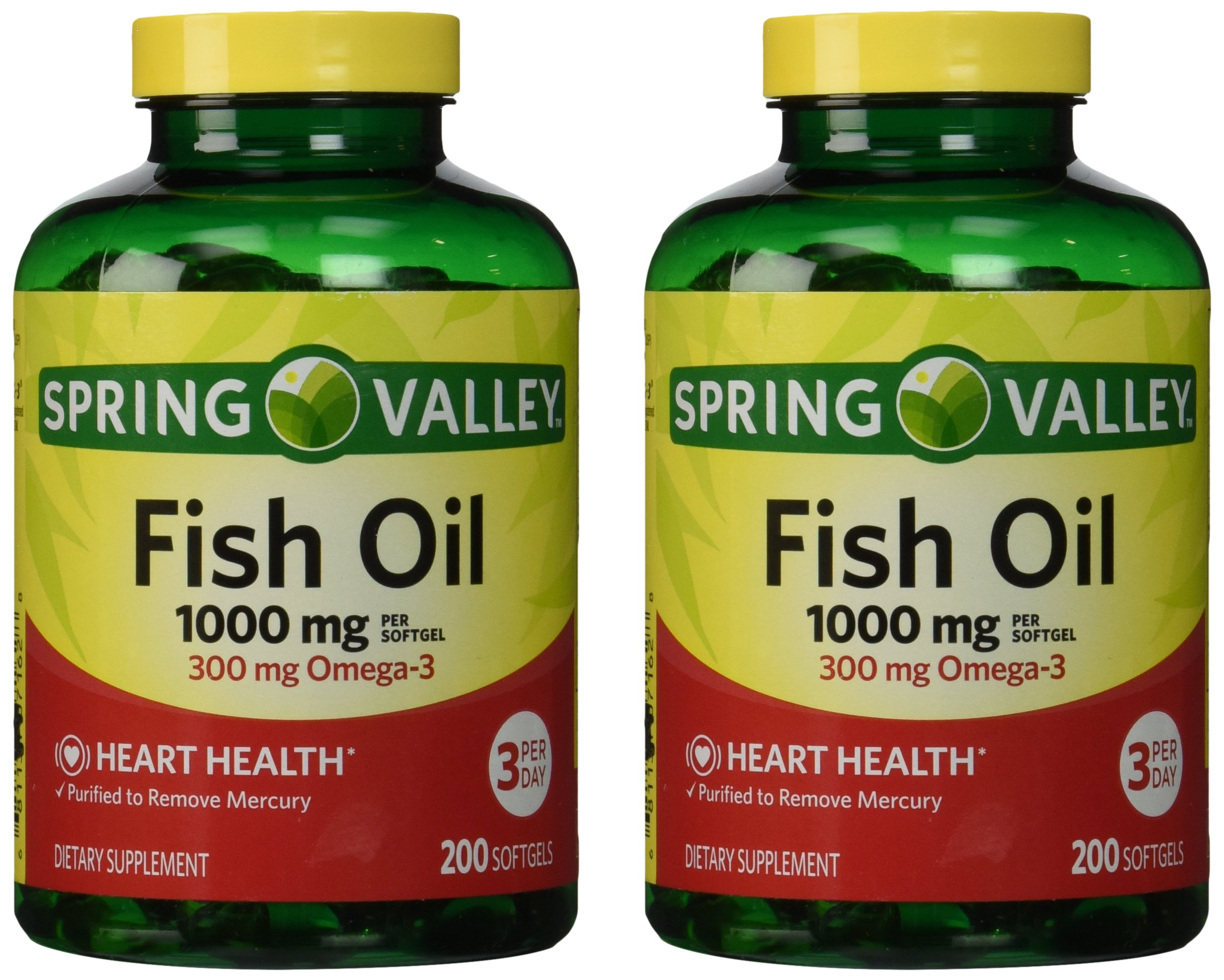 Spring valley calcium 600 mg with vitamin d3 for How many mg of fish oil per day