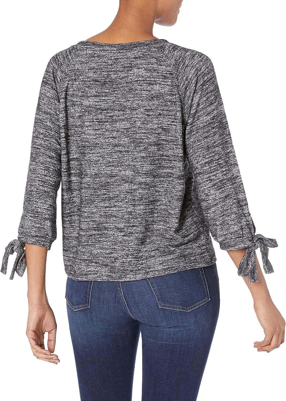 Velvet Damen Pamira Cozy Jersey Tie Sleeve Sweatshirt Marled