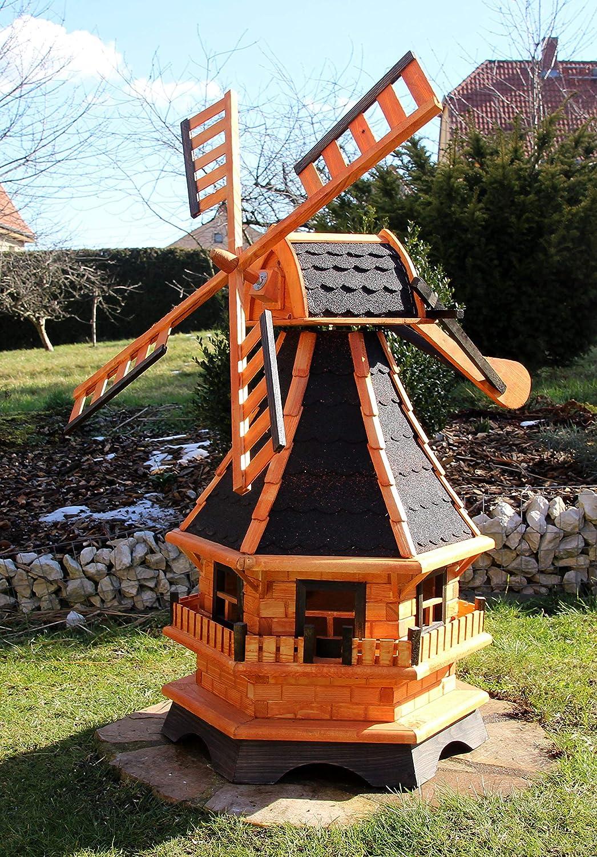 XXL 1,30 m molino de viento para el jardín Solar, color negro ...