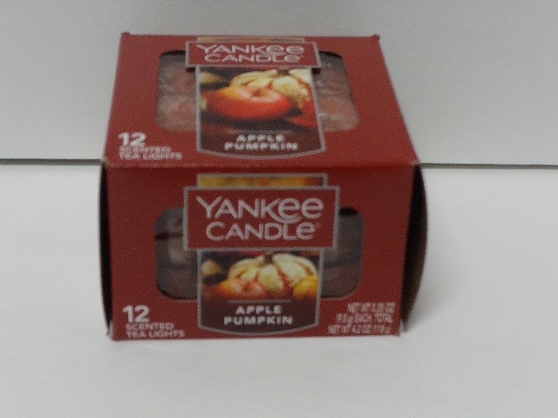 Apple Pumpkin Yankee Candle Tea Lights - Set of 12