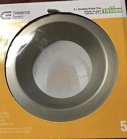 Comercial Eléctrico 5 en. Níquel cepillado LED anillo embellecedor