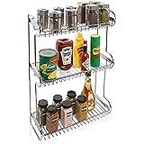 3 Tier Stainless Steel Kitchen Countertop Multipurpose Storage Rack / Bathroom Organizer Shelf Stand