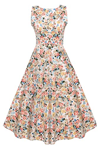 VOG Vintage 1950's Floral Long Sleeve Party Dress Party Cocktail Dress