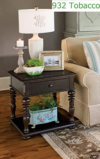 paula deen home rectangular end table tobacco