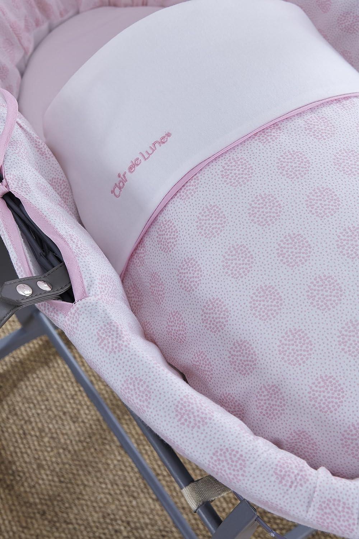 rosa Clair de Lune Speckles grigio vimini Inc materasso e cappuccio regolabile Biancheria