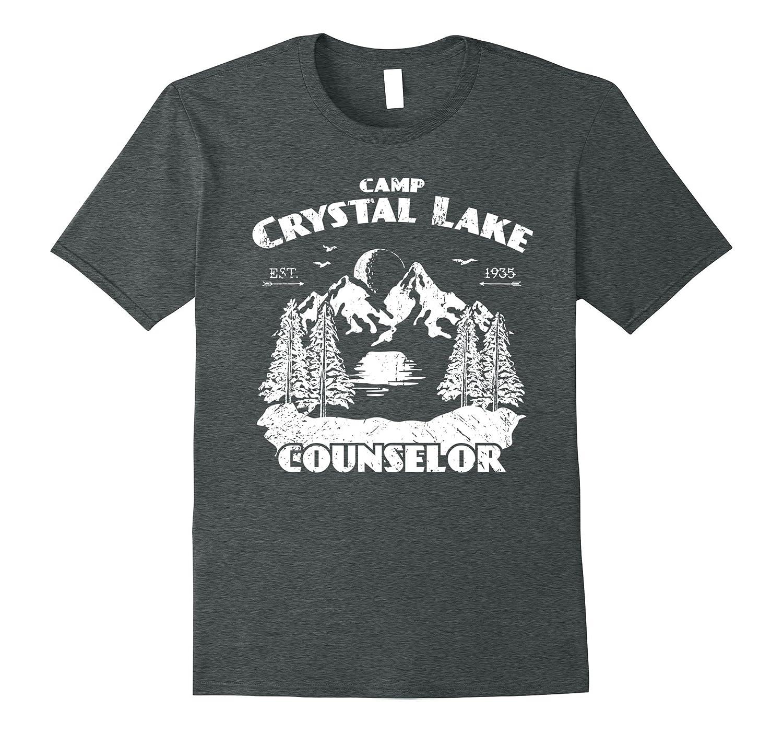 Camp Camping Crystal Lake Counselor Vintage Gift T-Shirt-T-Shirt