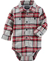 OshKosh B'Gosh Baby Boys' Long Sleeve Plaid Bodysuit