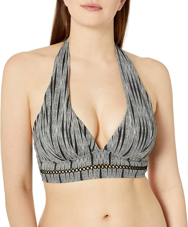 Athena Women's Molded Cup Halter Swimsuit Bikini Top