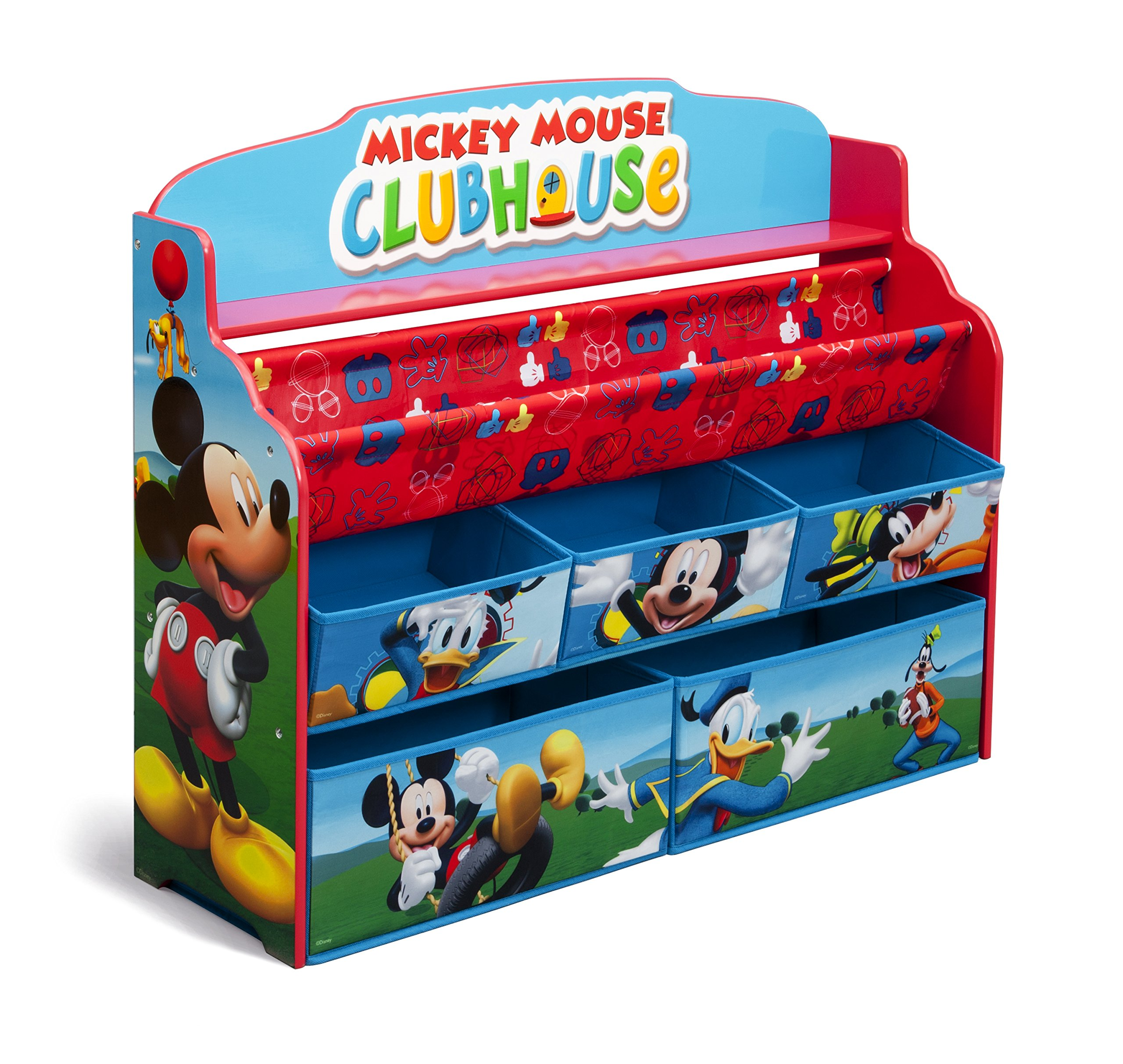 Delta Children Deluxe Book & Toy Organizer, Disney Mickey Mouse