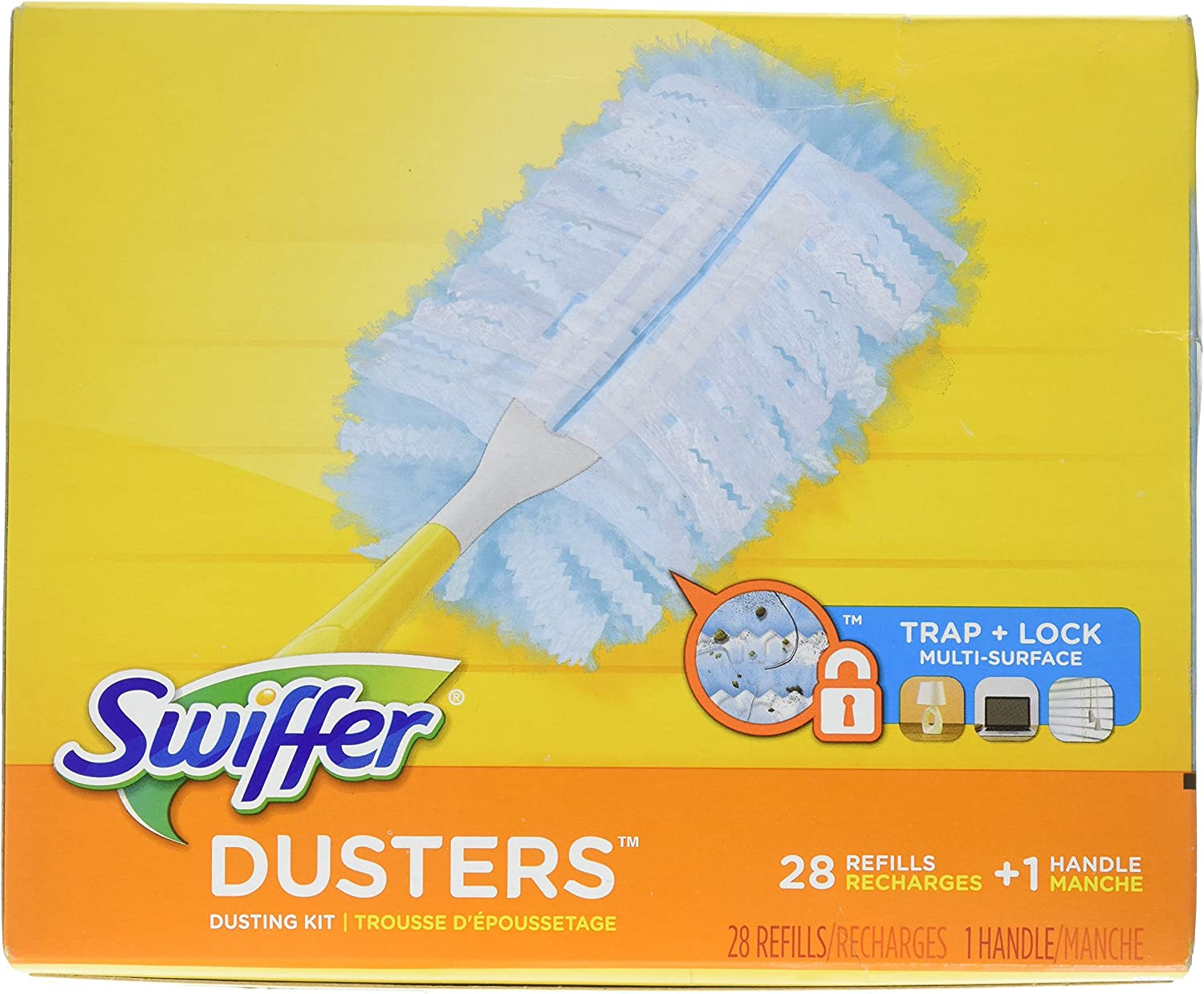 1/manche + 2/recharges Kit Swiffer Duster XXL